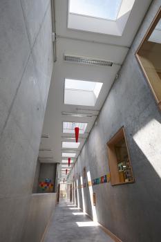 עיצוב ירוק לחדר מדרגות